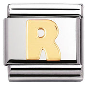 Nomination Composable Classic Stainless Steel Yellow Gold Letter R Charm 030101 18