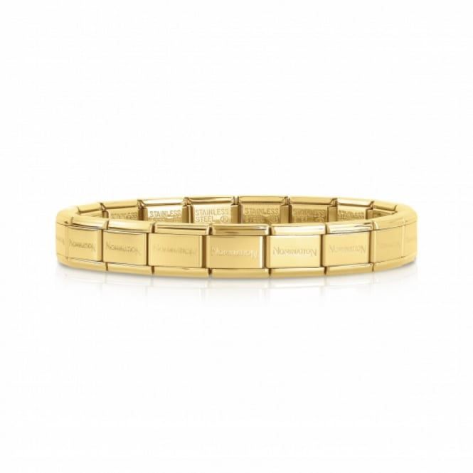 Nomination Stainless Steel Composable Yellow Gold Starter Bracelet 18cm