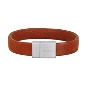 Nordahl Andersen Son of Noa Cognac Calf Leather 21cm Bracelet