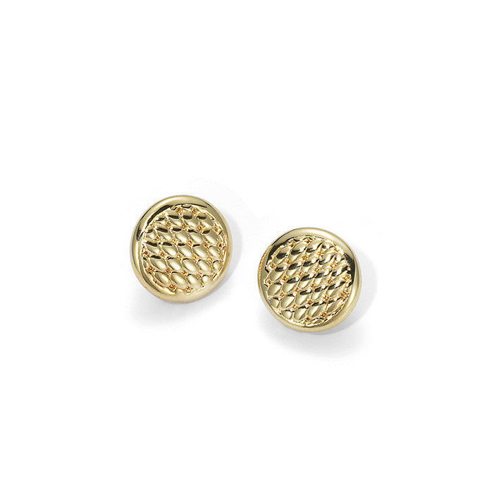 Fope Earrings Round 18ct Yellow Gold - OR20