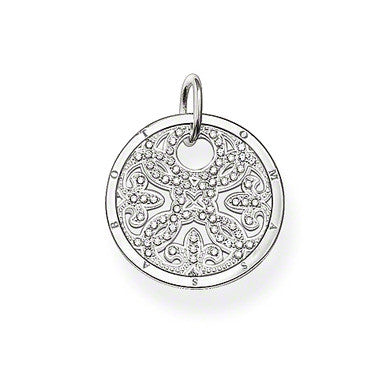 Thomas Sabo Pendant Silver Arabesque CZ Disc
