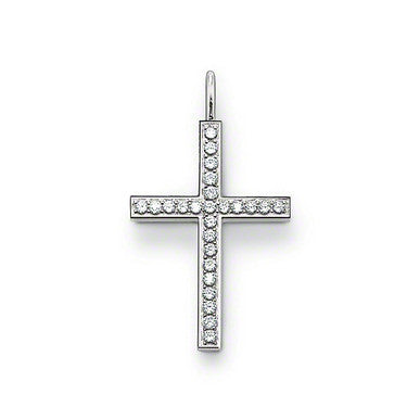 Thomas Sabo Pendant Silver & White Zirconia Cross