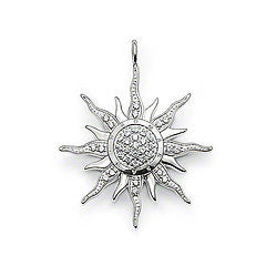 Thomas Sabo Pendant Sterling Silver Special Addition White Zirconia Circular Sun