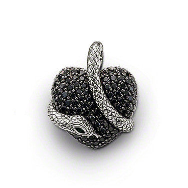 Thomas Sabo Pendant Sterling Silver Glam And Soul Black Zirconia Snake S