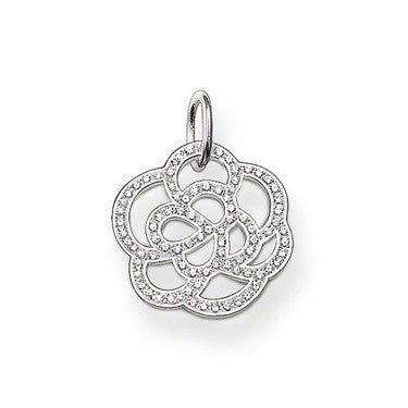 Thomas Sabo Pendant Sterling Silver Special Addition White Zirconia Flower