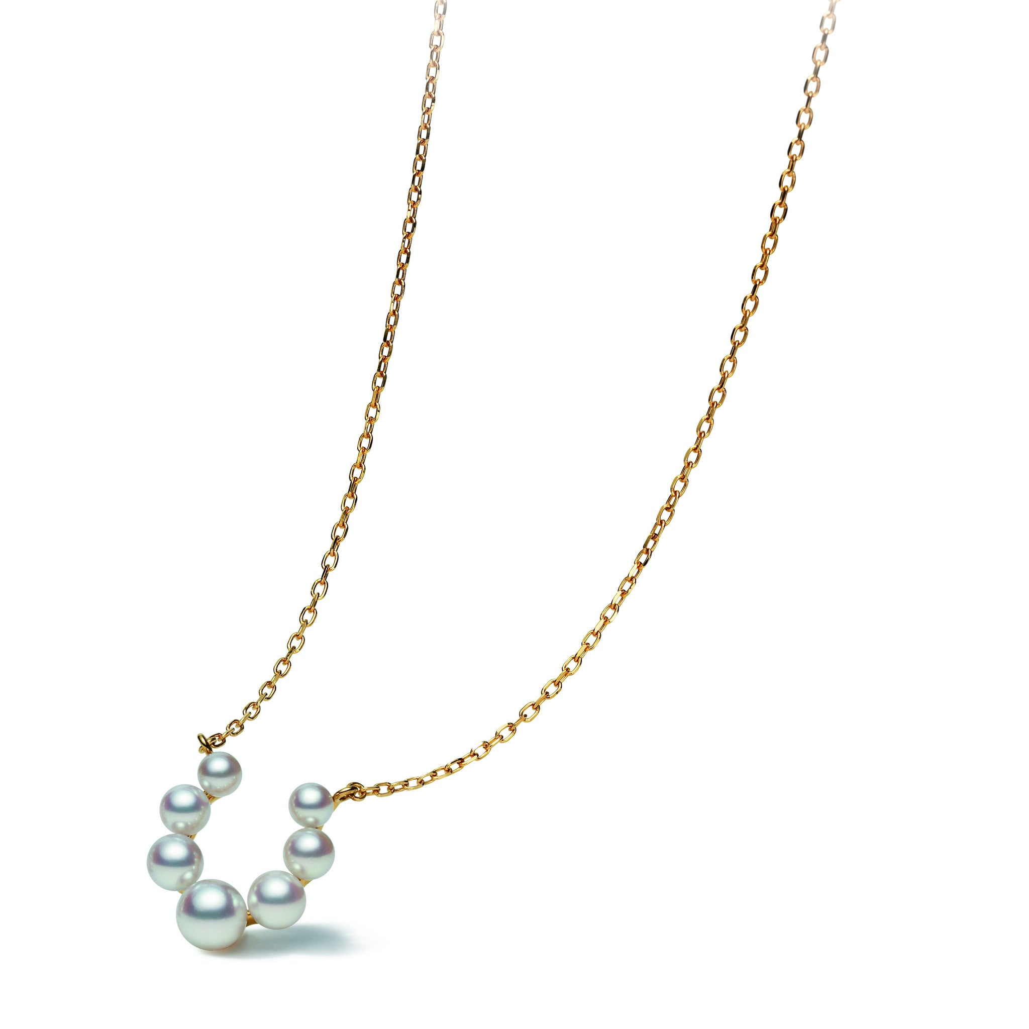 Mikimoto Necklace Bubble Akoya Pearls 18ct Yellow Gold