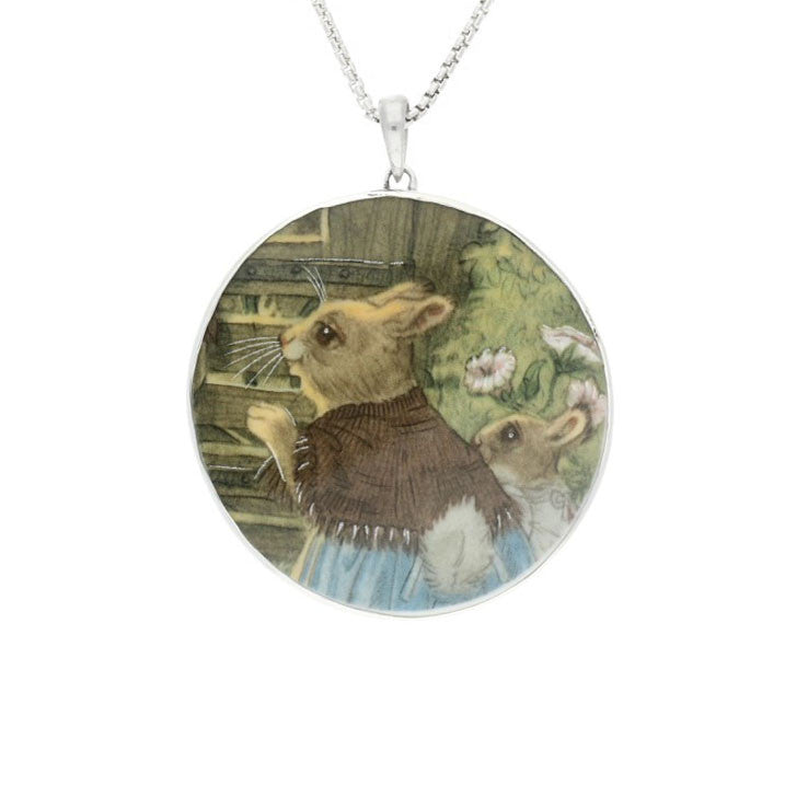 Wind In The Willows Necklace Round Fine Bone China And Silver