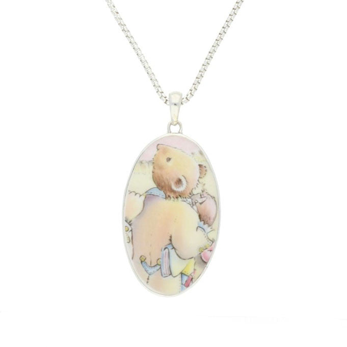 Wind In The Willows Necklace Oval Fine Bone China And Silver