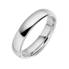 Palladium 6mm Court Shaped Wedding Ring