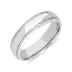 Palladium 6mm Engraved Wedding Ring