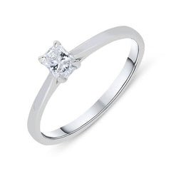 Phoenix Cut 18ct White Gold 0.24ct Diamond Solitaire Ring