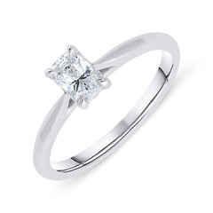 Phoenix Cut Platinum 0.44ct Diamond Solitaire Ring
