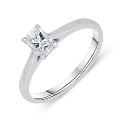 Phoenix Cut Platinum 0.48ct Diamond Solitaire Ring
