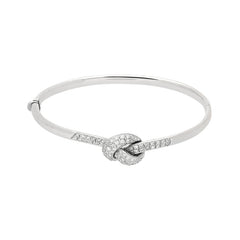 Picchiotti 18ct White Gold Diamond Knot Bangle
