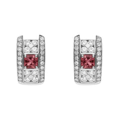 Picchiotti 18ct White Gold Diamond Pink Tourmaline Earrings