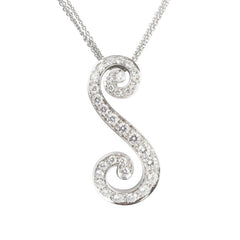 Picchiotti 18ct White Gold Diamond S Style Necklace