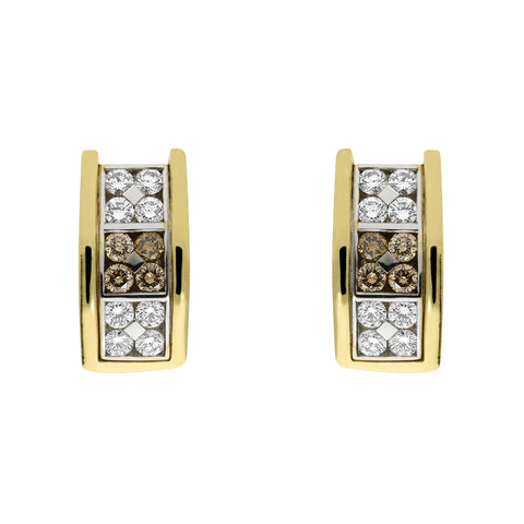 Picchiotti 18ct Yellow Gold 1 68ct Diamond Chequered Earrings