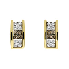 Picchiotti 18ct Yellow Gold 1.68ct Diamond Chequered Earrings