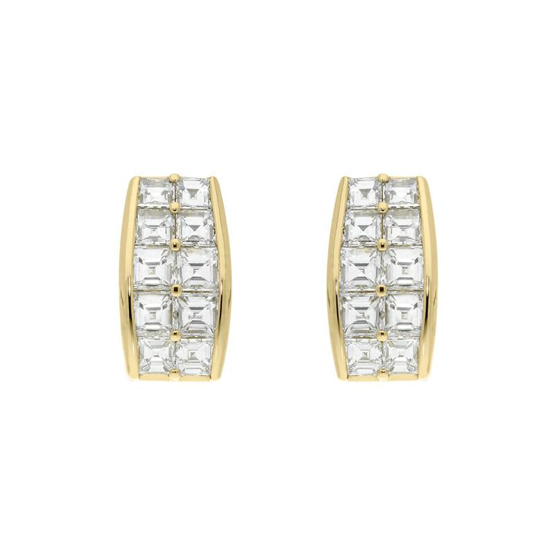 PICCHIOTTI Picchiotti 18ct Yellow Gold 5.02ct Diamond Hoop Earrings