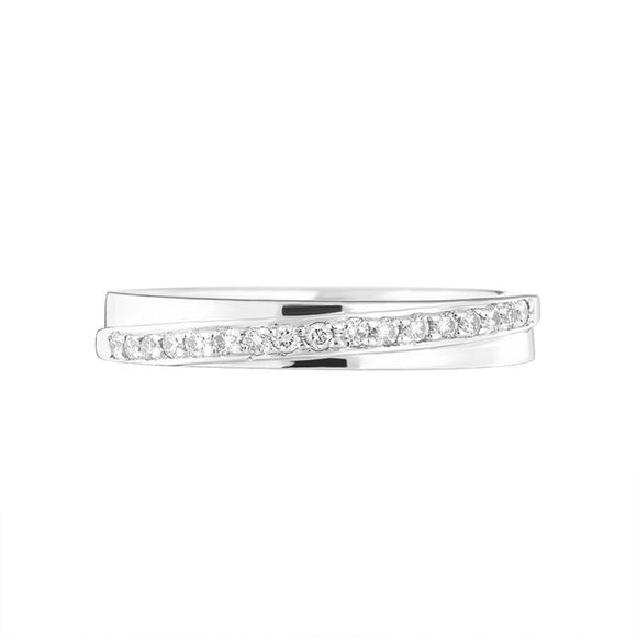 Platinum 0.17ct Diamond Channel Set Half Eternity Ring, DW086T_2