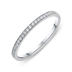 Platinum 0.10ct Diamond Brilliant Cut Half Eternity Ring