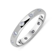 Platinum 0.30ct Diamond 3mm Wedding Ring