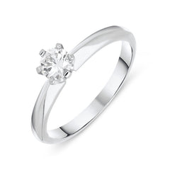 Platinum 0.31ct Diamond Brilliant Cut Solitaire Ring