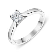 Platinum 0.33ct Diamond Brilliant Cut Solitaire Ring FEU-2188