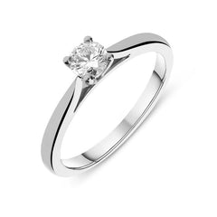 Platinum 0.33ct Diamond Round Brilliant Cut Solitaire Ring