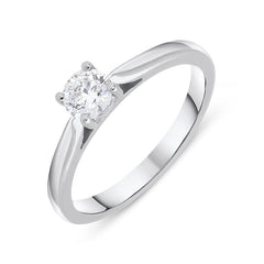 Platinum 0.40ct Diamond Brilliant Cut Solitaire Ring