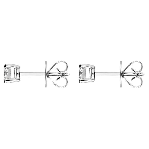 Platinum 0.50ct Diamond Claw Set Solitaire Stud Earrings ERT103