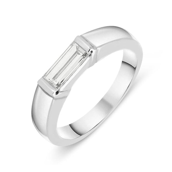Platinum 0.55ct Diamond Baguette Cut Ring. RUNQ0000444.
