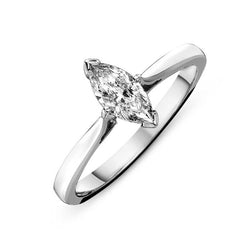 Platinum 1.00ct Diamond Marquise Solitaire Ring