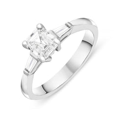 Platinum 1.14ct Diamond Trilogy Ring