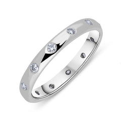 Platinum Diamond 3mm Wedding Ring