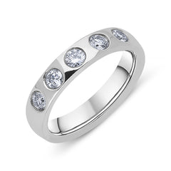 Platinum Diamond Brilliant Cut Wedding Ring