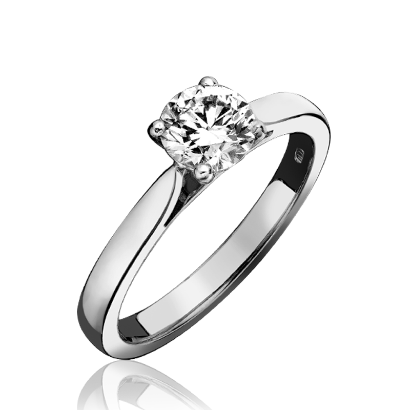 Platinum 0.30ct Diamond Round Brilliant Cut Solitaire Ring
