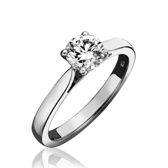 Platinum 1.00ct Diamond Round Brilliant Cut Solitaire Ring