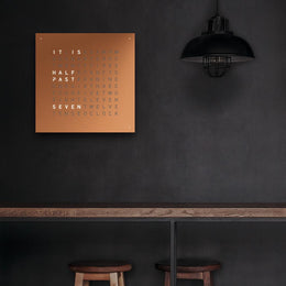 QLOCKTWO Classic Copper Wall Clock 45cm