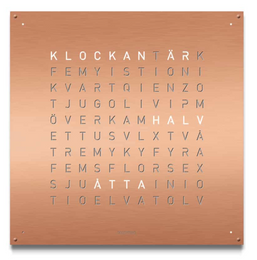 QLOCKTWO Large Copper Wall Clock 90cm LGENBRCO