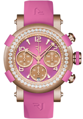 RJ Watches ARRAW Chonograph 42mm Gold Pink Diamonds