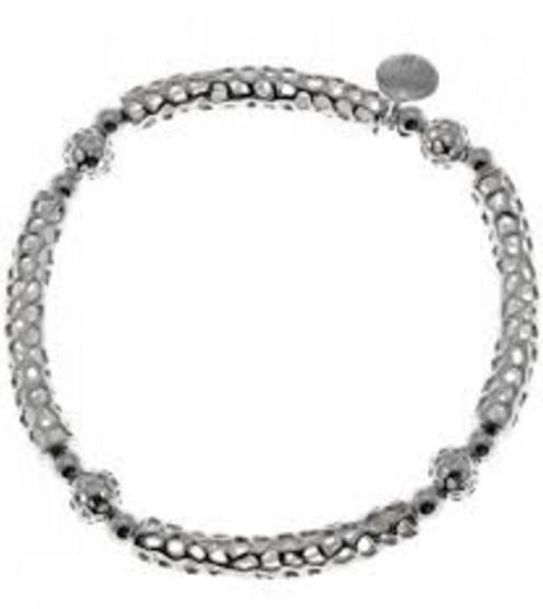 Rachel Galley Sterling Silver Bar Elasticated Bracelet