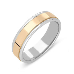 Rose Gold and Palladium 6mm Wedding Ring
