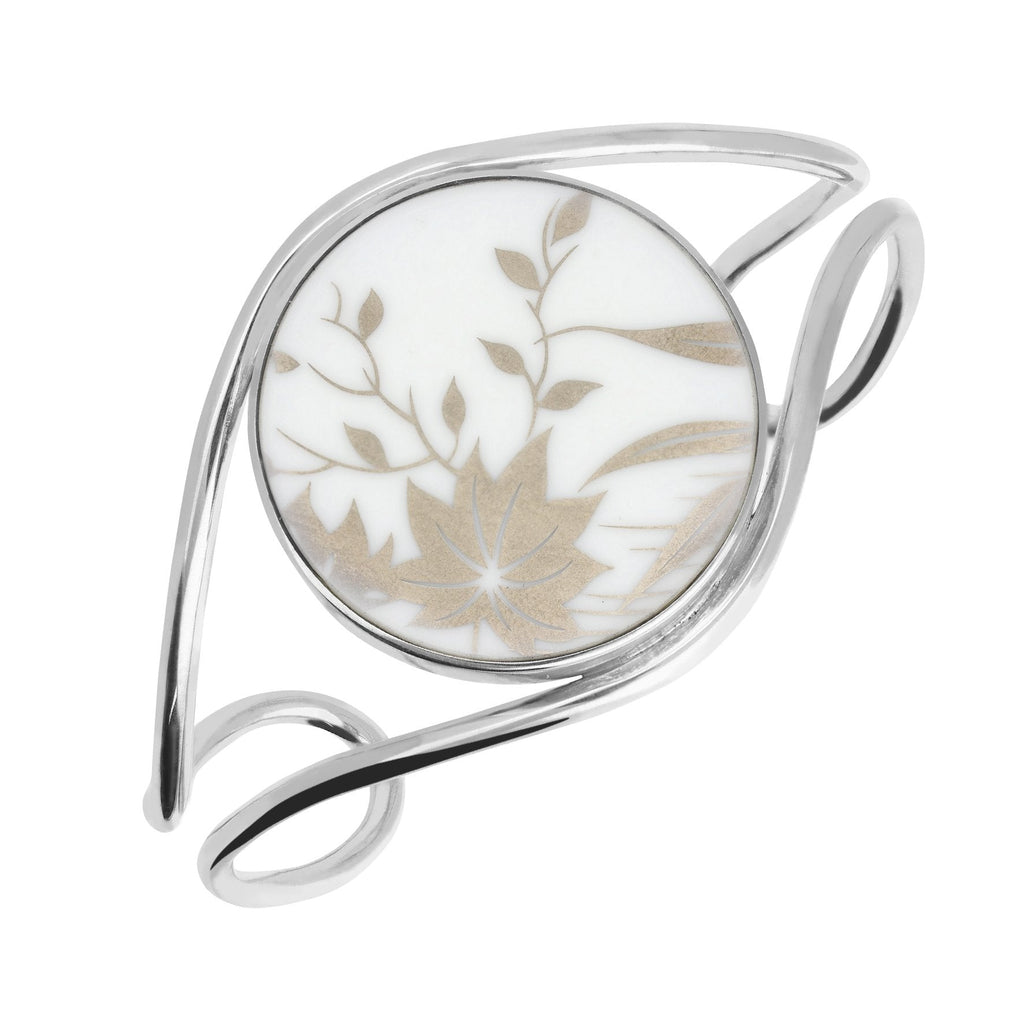 Royal Crown Derby Sterling Silver Floral Bangle