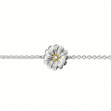 Thomas Sabo Bracelet Silver & Diamond Flower D
