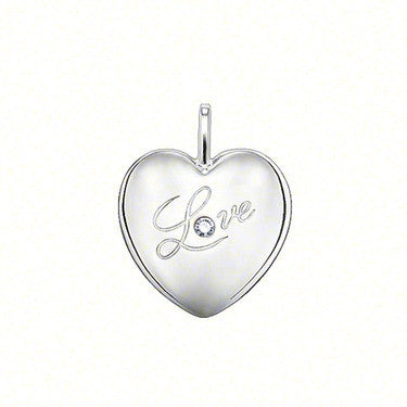 Thomas Sabo Pendant Silver & White Mother Of Pearl Heart D