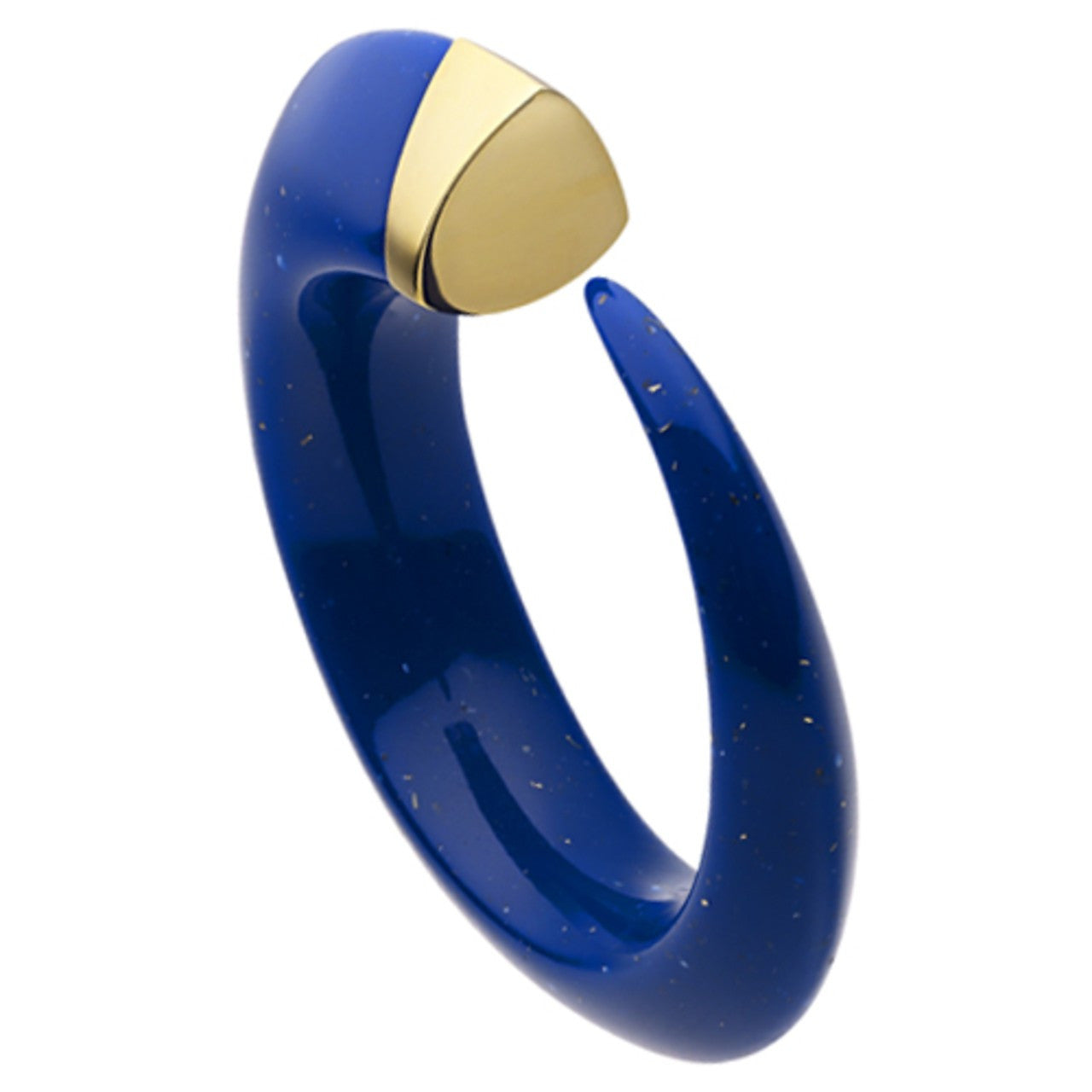 Shaun Leane Bangle Blue Resin Tusk Silver & Gold Vermeil