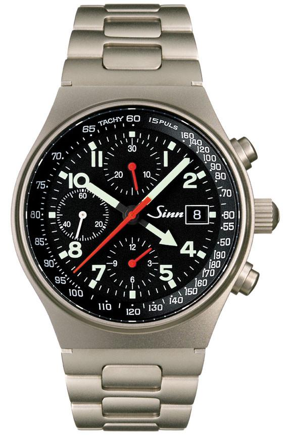 Sinn World Time Chronograph 144 GMT Ti Titanium D 144.070 BRACELET
