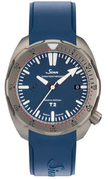 Sinn Watch T2 B EZM 15 Rubber Strap Blue 1015.011 Rubber Strap Blue