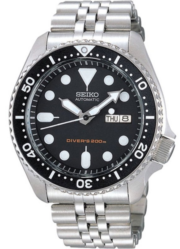 Seiko Watch Divers Automatic Mens SKX007K2